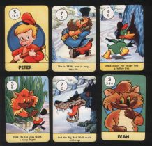 Vintage Collectible cards game  Peter & the Wolf  issued by, Pepys games